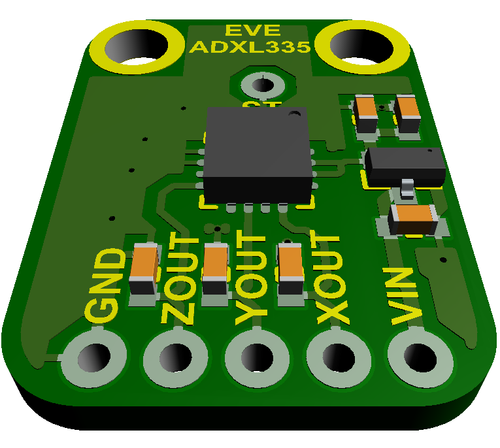EVE-ADXL335 - Evelta ADXL335 5V Triple-axis Accelerometer Breakout