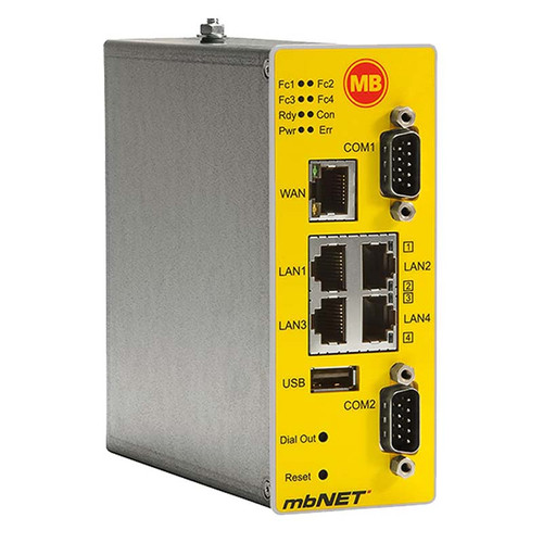 MDH-850 - mbNET Remote Controlling & Monitoring Device With Two Serial Interfaces, Industrial Security Router LTE/4G
