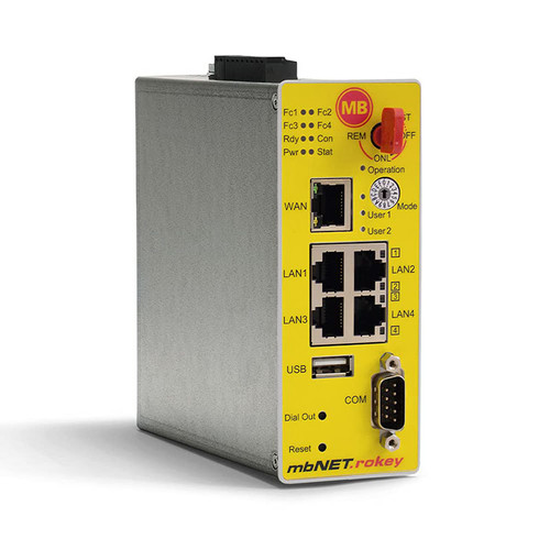 RKH210 - mbNET.rokey Secure Remote Access With Key Switch, Industrial Security Router - MB CONNECT LINE