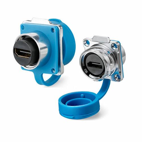 DH-24-J/HDMI2/213/SX-43-402 - DH24 HDMI Female Socket IP67 Waterproof Signal Data Connector - Linko Electric