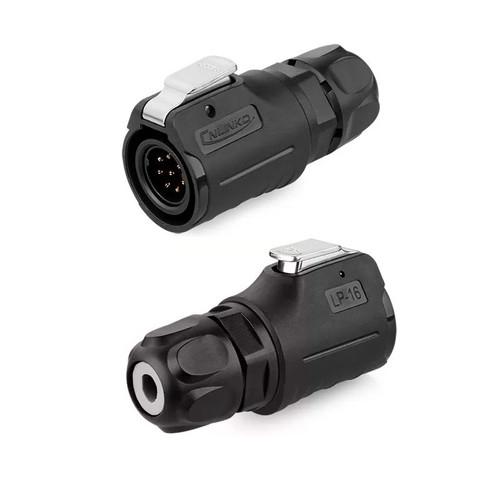 LP-16-C08PE-02-001 - LP-16 Series 250V 5A 8Pin Male Plug IP67 Waterproof Power Connector - Linko Electric