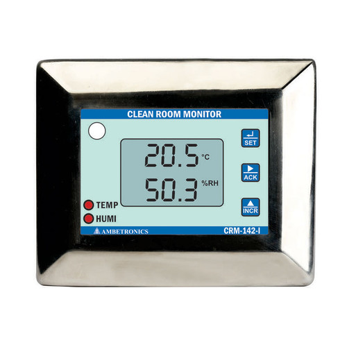 CRM-142-I - Ambetronics Battery-powered Cleanroom Monitor with Temperature & Humidity TRH Sensor