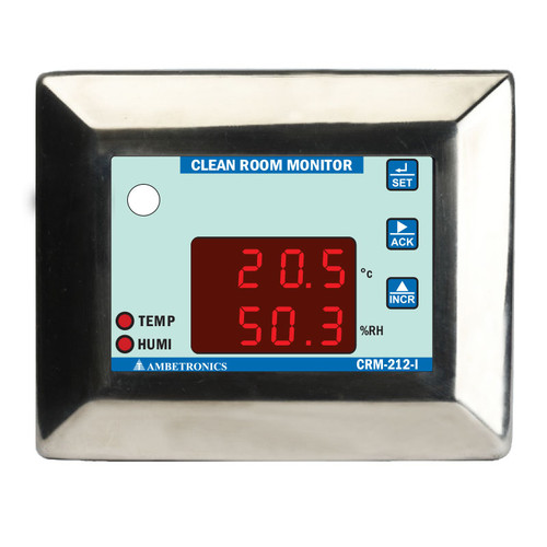 CRM-212-I - Clean Room Monitor with Temperature & Humidity Sensor for Cold Storage