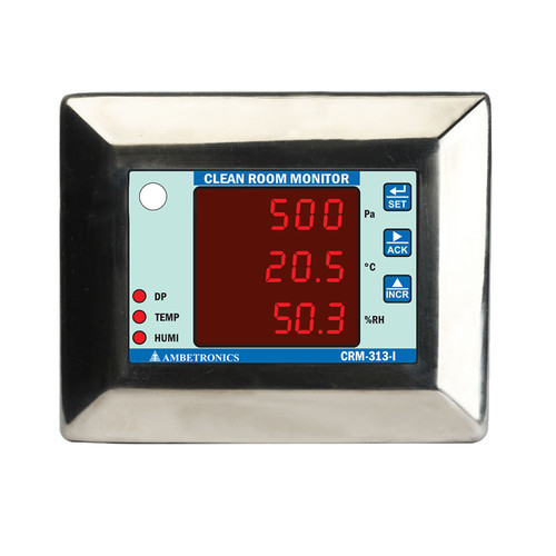 CRM-313-I - Clean Room Monitor with Temperature, Relative Humidity and Differential Pressure Sensor for Cold Storage