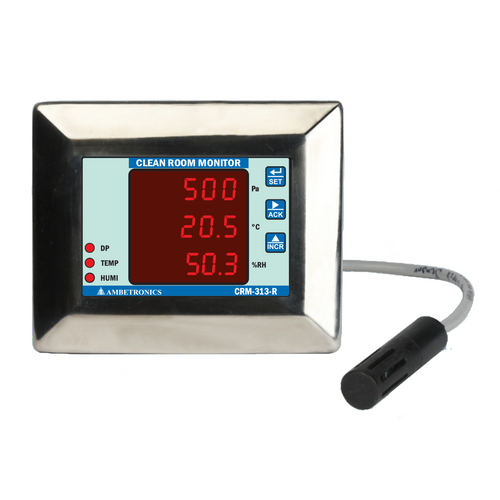 CRM-313-R - Clean Room Monitor with Remote Sensor for Pharmaceutical Industry