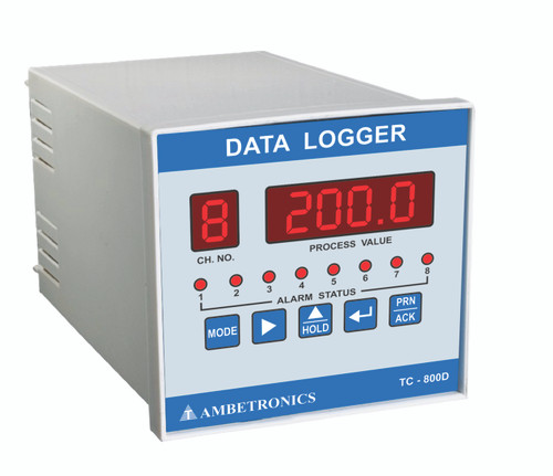 Industrial 8-Channel Temperature and Humidity Data Logger