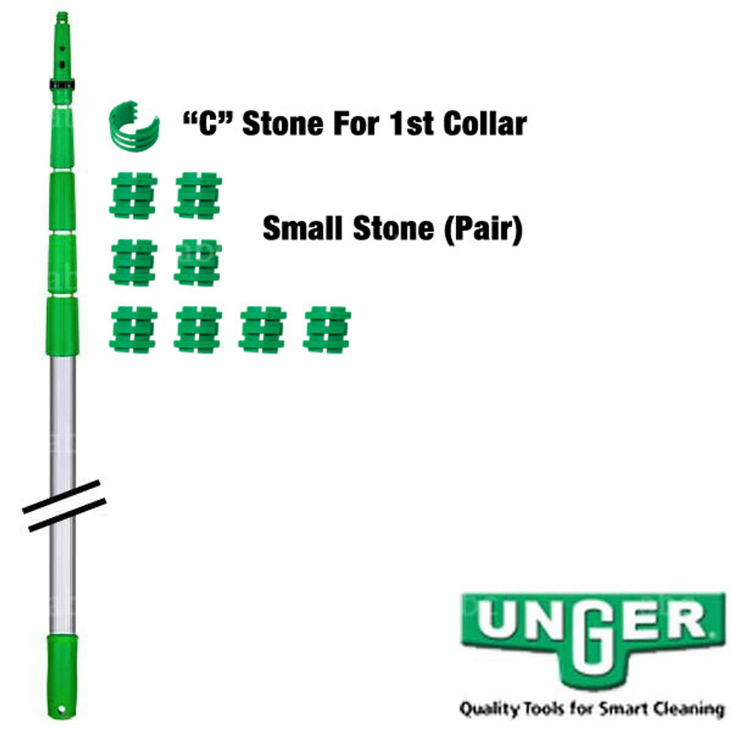 Pole Part -- Unger - TelePlus - Inside Threaded Stones - Pair