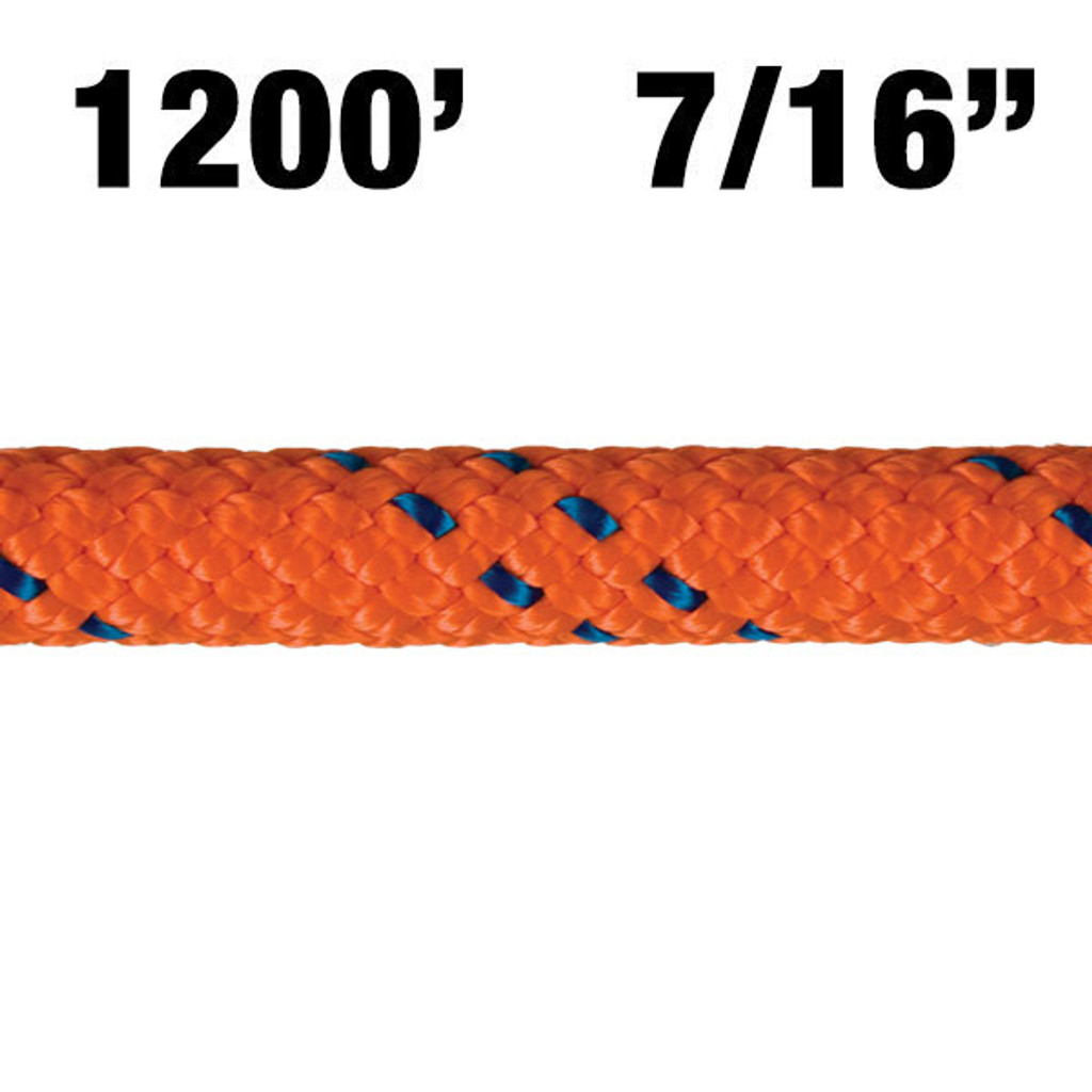 3300-14 New England KMIII Rope - Orange/Blue