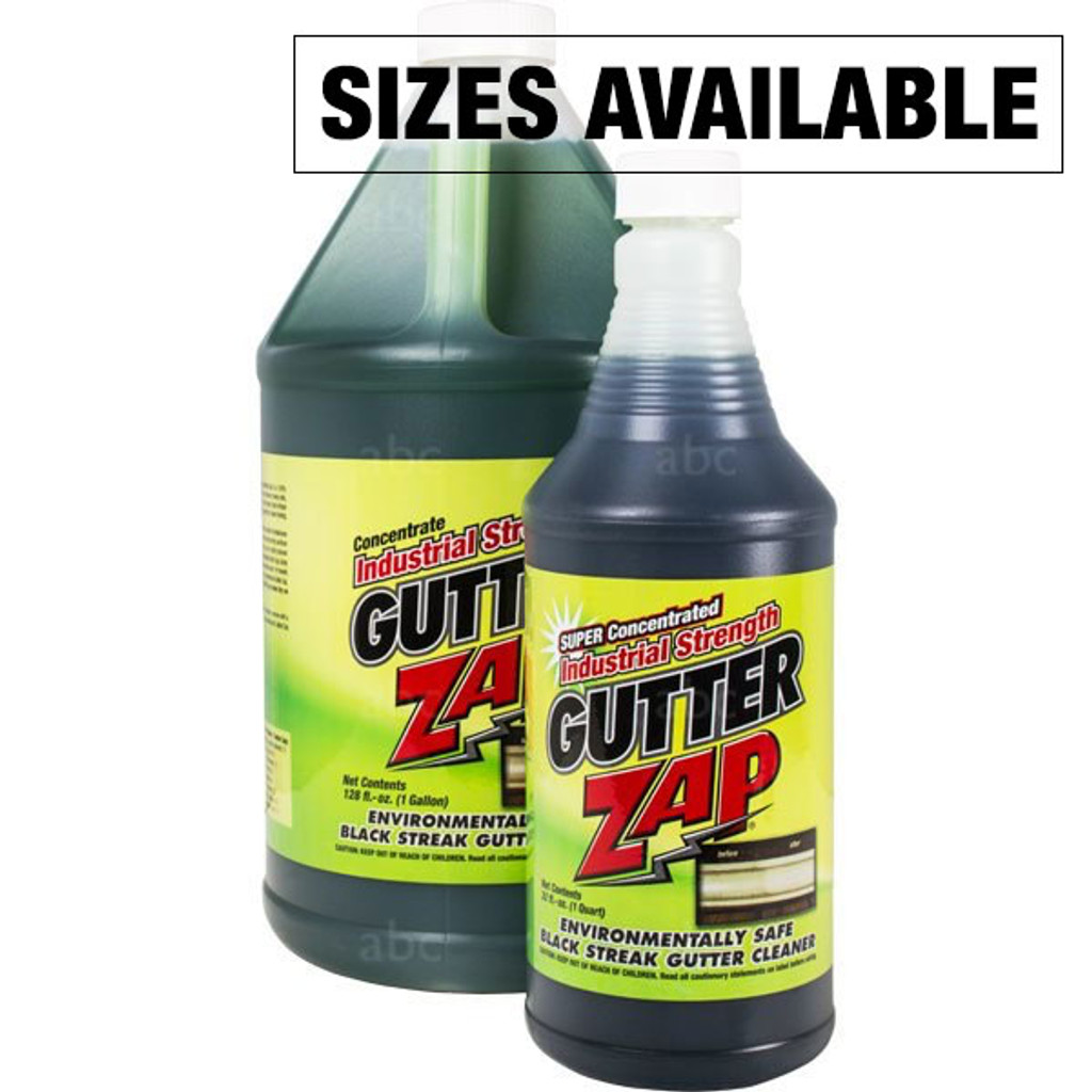 Chemical Gutter Cleaner Zap Black Streak Quart