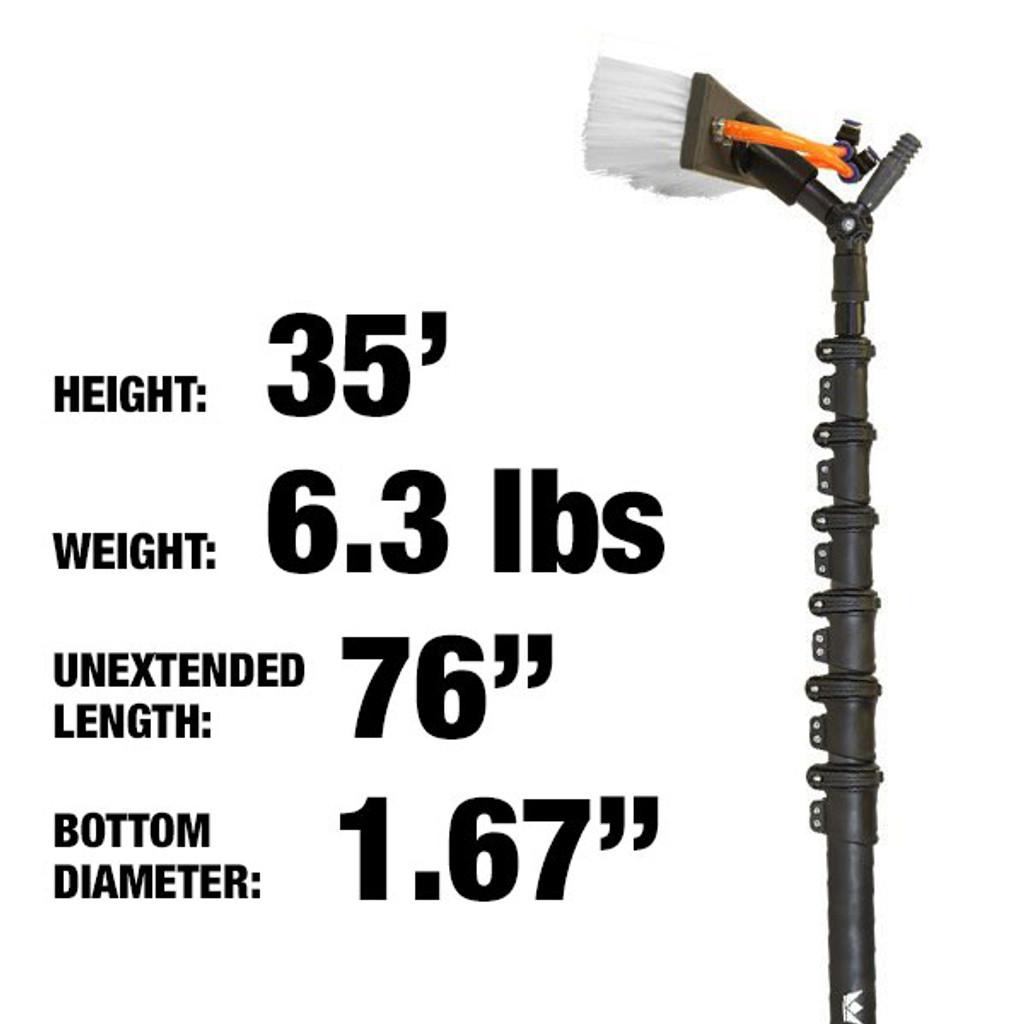35ft: $490.00: 6.3lbs: Hybrid