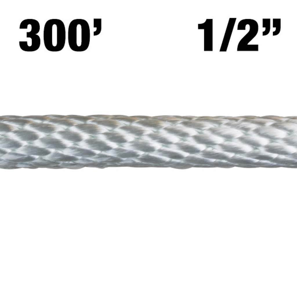 "12-300 1/2"" Solid Braided Nylon Rope - 300'"