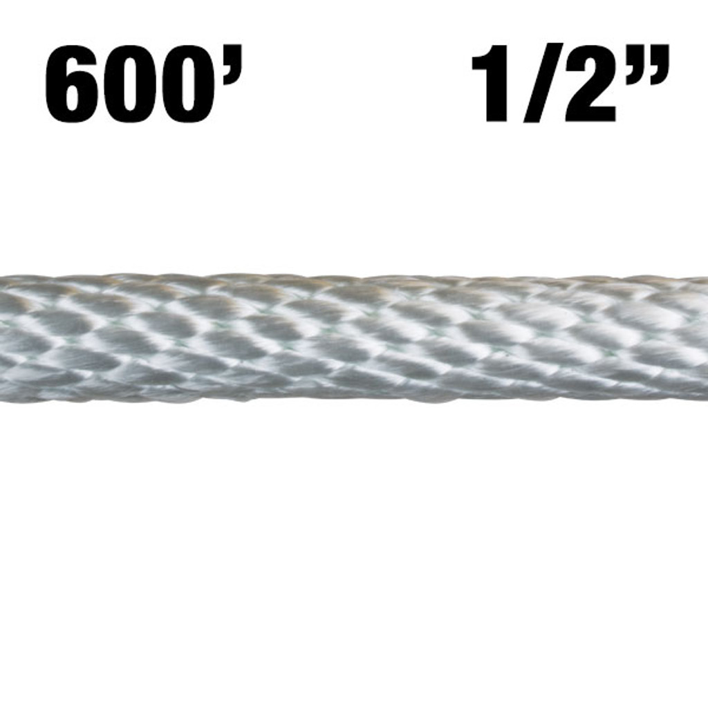 "12-600 1/2"" Solid Braided Nylon Rope - 600'"