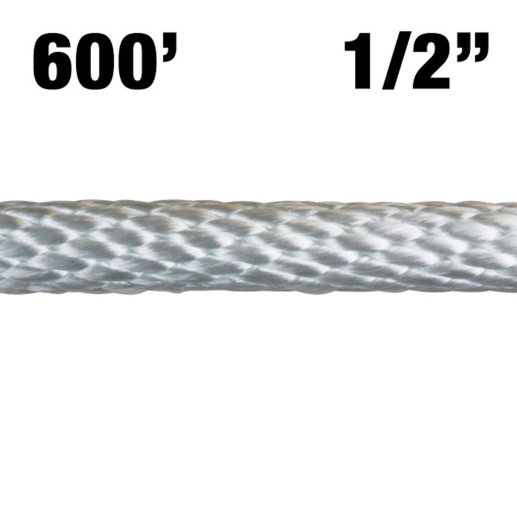 "12-600 1/2"" Solid Braided Nylon Rope - 600'"