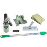 "Kit Contents:  SOABG: Sprayer on a belt PHD20:  Handheld pad holder PHH20:  8"" Aluminum pad Holder with Euro fittings (German threading) AFAET:  HiFlo Thread Adapter for Aluminum Poles PHW20: 8"" Microfiber ""Washing"" Pad (3) PHL20:  8"" Microfiber Luster Pad (3) ED180:  OptiLoc Three Section Telescopic Pole - 6'"