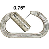 Petzl Oxan Triact-Lock Steel Auto-Locking Carabiner