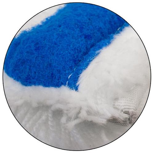 Pulex White w/Blue Abrasive Close up