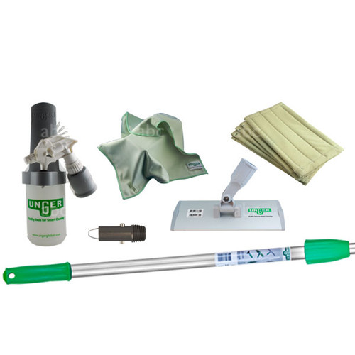 "Kit Contents:  SOABG - Sprayer on a belt PHP20 - 8"" Aluminum pad Holder with Euro fittings (German threading) MF40L - 5 MicroWipe Microfiber Towels AFAET - HiFlo Thread Adapter for Aluminum Poles PHP20 - 5 8"" Microfiber ""Washing"" Pad ED180 - OptiLoc Three Section Telescopic Pole - 6'"