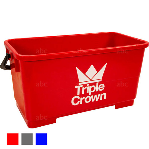 Bucket -- Triple Crown - 6 Gallon Rectangular - Red - Each