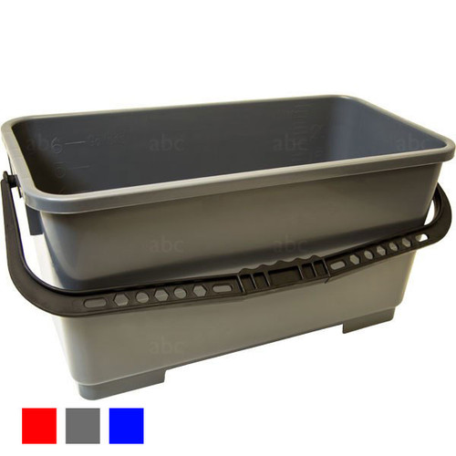 Bucket -- Triple Crown - 6 Gallon Rectangular - Gray - Each