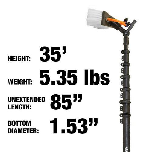 35ft: $652.00: 5.3lbs: Carbon Fiber