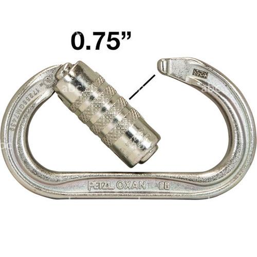 Petzl Oxan Triact-Lock Steel Auto-Locking Carabiner