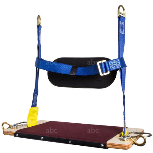 Economy 2 Point Suspension MIO Chair with Permanent Waist Belt, 2 Clips, and 2 Tool Holders