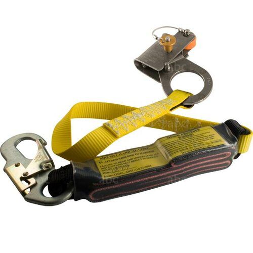 "LanRG-716-3 MIO Shock Absorbing Lanyard with 7/16"" Rope Grab"