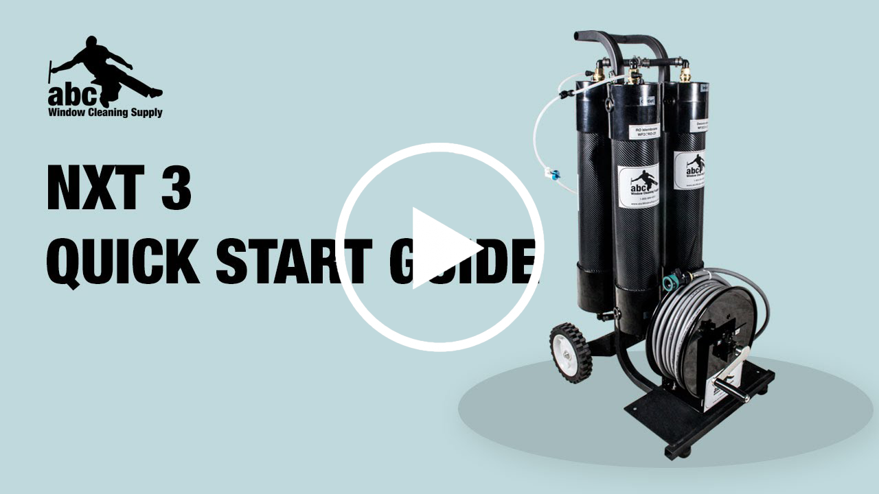 Getting started with the NXT 3 WaterFed system.