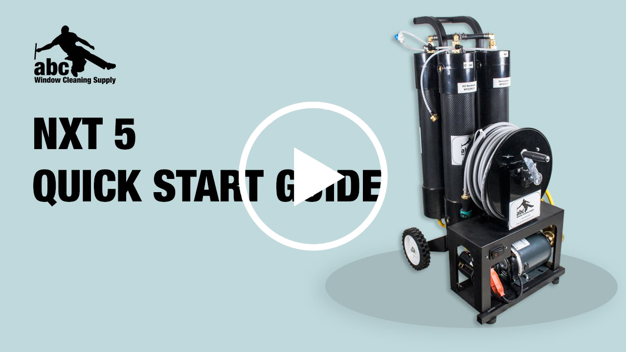 Getting started with the NXT 5 WaterFed system.