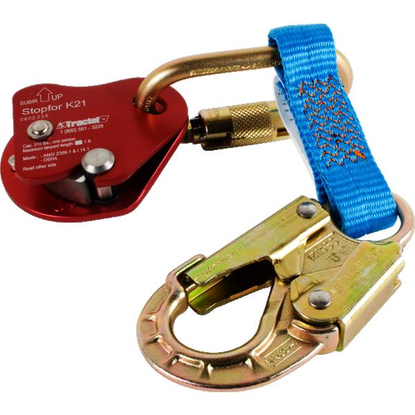 Tractel K212 StopFor Back Up Rope Grab w/ 1' Webbing Lanyard