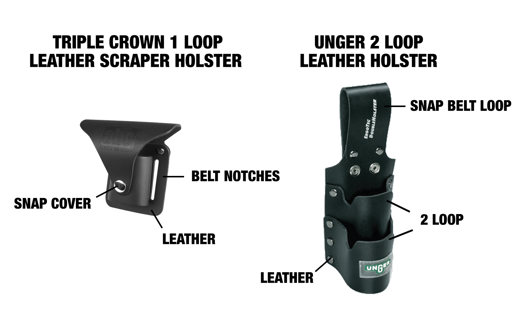 Specialty Window Cleaner Holsters