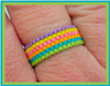 Lucky Rainbow Even Count Peyote Ring PRINTED PATTERN - Mailed to your home