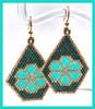 Brick Stitch Flower Earrings INSTANT DOWNLOAD PDF Pattern