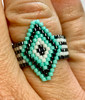 Diamond Brick Ring PRINTED Pattern - Mailed to your home