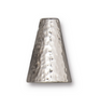 16mm Hammertone Silver Plated Cones (2pk) TierraCast