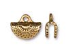 Gold Plated Crescent Crimp Ends (TierraCast) 2pk