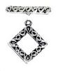 Pewter Diamond Swirl Toggle (2 Sets)