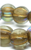 8mm Large Hole Melon Strand - Gold with AB Finish  - 20 Beads