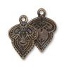 TierraCast Mehnidi Charm - Antique Gold - 2pk