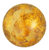25mm Crystal Gold Spotted Par Puca Cabochon (1 Piece) #00030/65322
