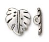 Monstera Silver Pewter Button (1 Button)