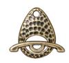 Hammertone Ellipse Toggle Antique Brass Pewter (1 Clasp)