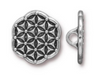 Flower of Life Button Pewter (1 Button)
