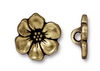 Antique Brass Apple Blossom Button (1 Button)