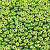 2.5x5mm Metalust Apple Green Super Duo Beads (8 Grams)