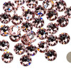 6pk SS34 Light Rose Flat Back Crystal