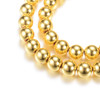 Electroplate Non-magnetic Synthetic Hematite Beads Strands, Round, Golden Plated, 4mm, Hole: 1mm; about 92~95pcs/strand, 15.7 inches.