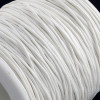 1mm White Waxed Cotton Cord (5yds)