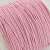 1mm Pink Waxed Cotton Cord (5yds)