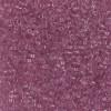 11/0 Transparent Light Rose Delica Beads (DB1413) 7.2 Grams